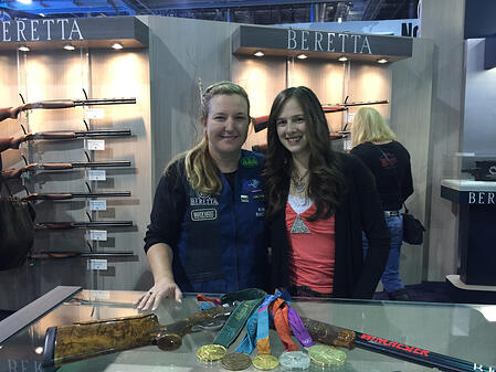 Olympian-Kim-Rhode-with-teen-Lea-Leggitt-at-Beretta-USA-by-Anstine