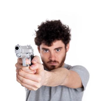 Suspect Pointing Gun