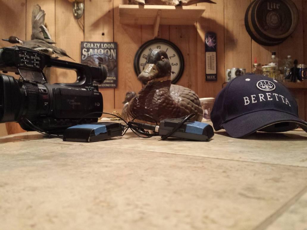 Filming duck hunts